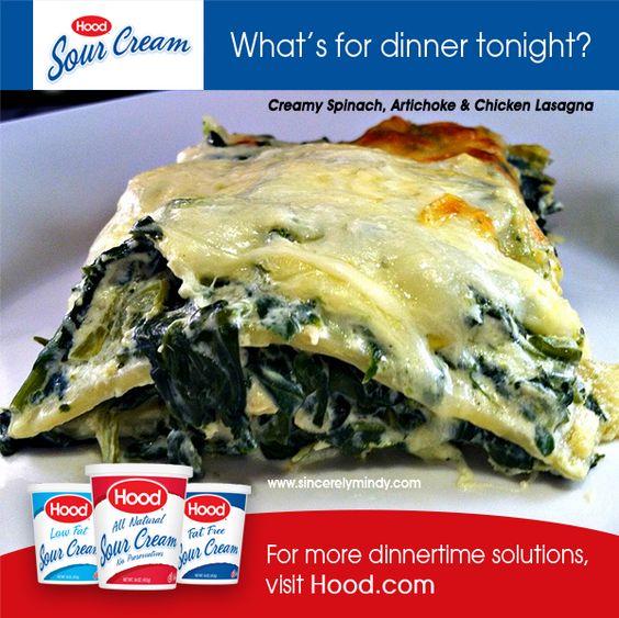 Creamy Spinach, Artichoke & Chicken Lasagna - Sincerely, Mindy