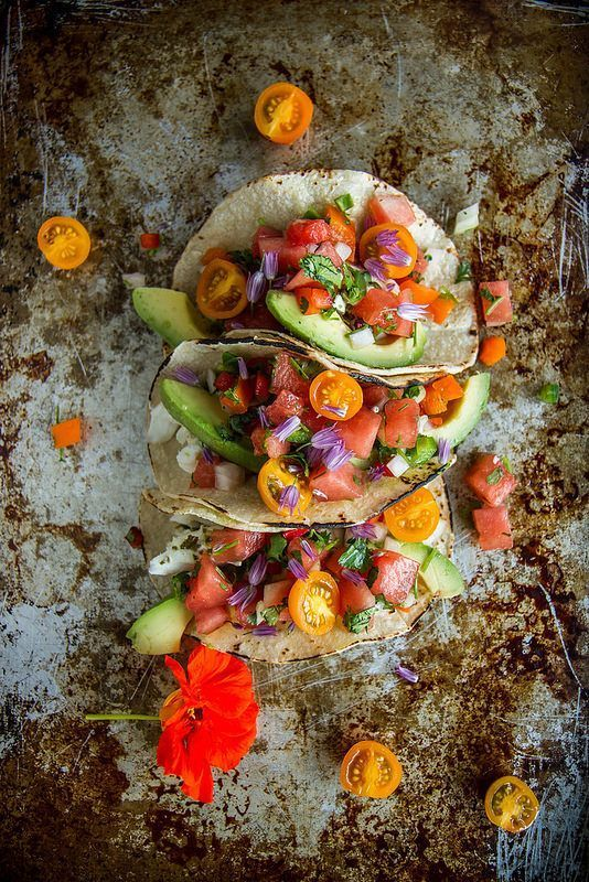 Grilled Halibut Tacos with Watermelon Salsa | Halibut Tacos, Grilled ...