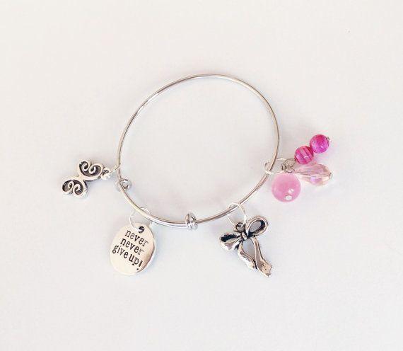 Inspirational bangle/bracelet Never Give Up bangle/bracelet