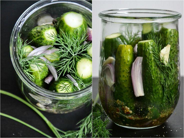 Homemade Pickles (Gewürzgurken oder Essiggurken selbstgemacht)