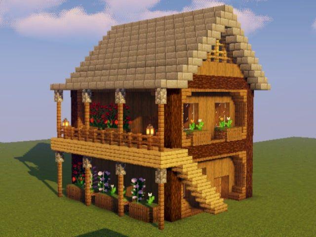 A Cozy Survival House Minecraftbuilds Cute Minecraft Houses Minecraft House Designs Easy Minecraft Houses