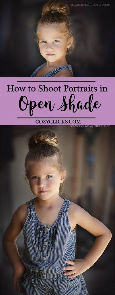 The easiest way to use open shade with a garage to take flattering portrait with your camera