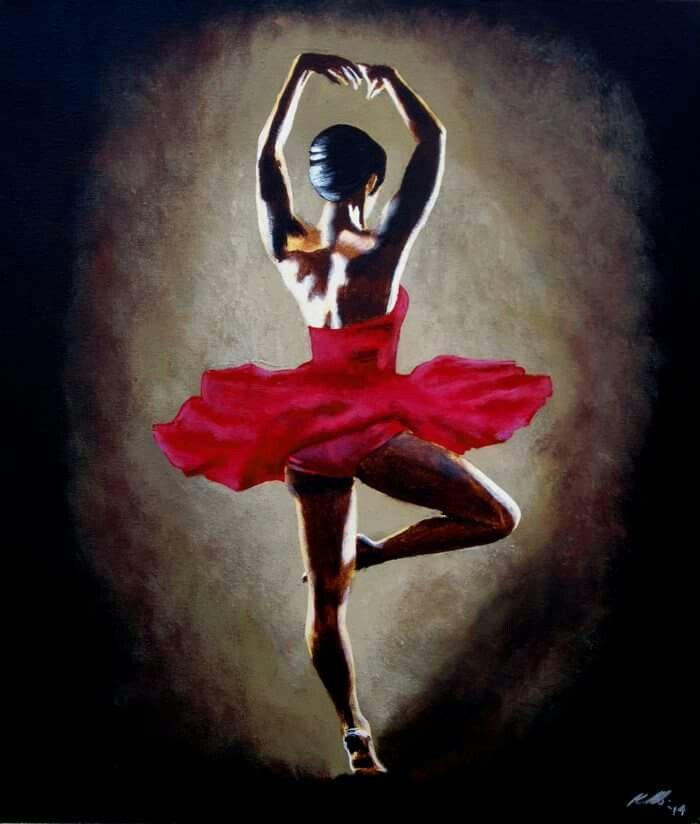 """Dancer"" IconArtCanberra - acrylic painting - ballet dancer - ballerina - pointes - tutu"