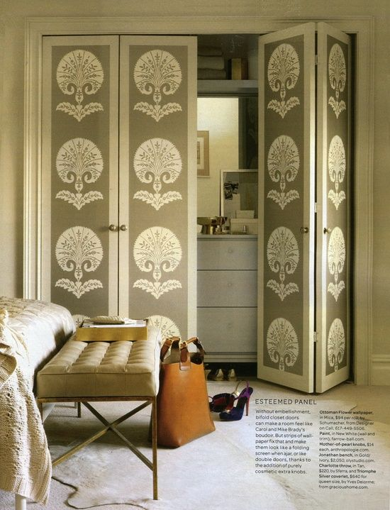 Bifold doors with stencils & 14 best Door Stencils images on Pinterest | Windows Bedrooms and Paint