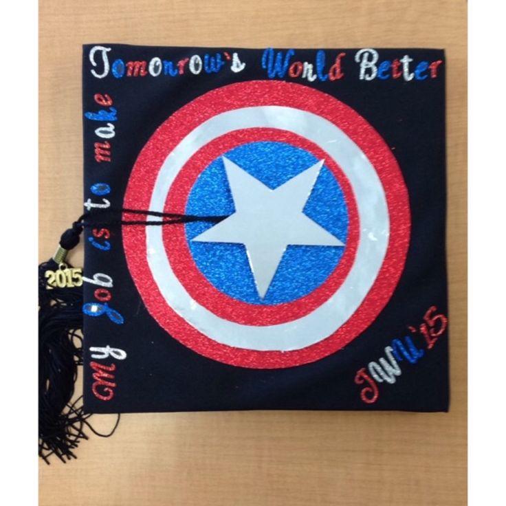 Captain America quote Graduation Cap JWU '15 #captainamerica #graduation #avengers #johnsonandwales #2015