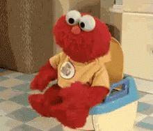 Funnypoop Elmo GIF - Funnypoop Elmo Potty - Discover & Share GIFs