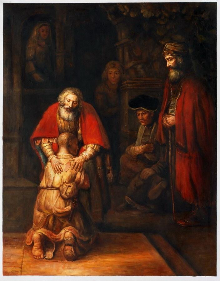 Rembrandt, Terugkeer van de verloren zoon. 1662, 262*206 cm.