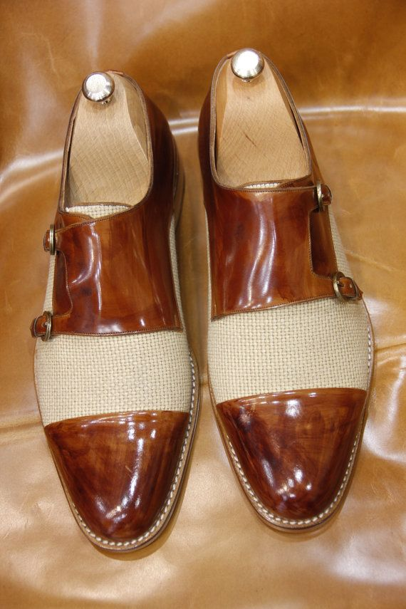 Handmade Special Design Luxury Brown Mens Shoes by UstabasShoes