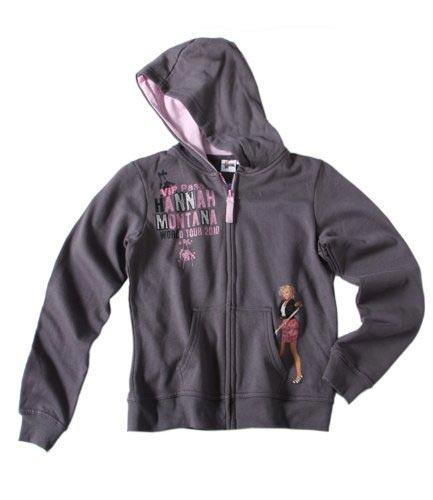 Hannah Montana Sweat zippe a capuche gris Sweatshirt Enfant Fille par UnCadeauUnSourire.com