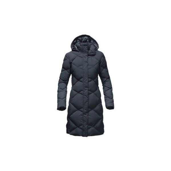 The North Face Women's Miss Metro Parka Coat (21.280 RUB) ❤ liked on Polyvore featuring outerwear, coats, urban navy, long parka, suede coat, navy blue parka, long coat and navy long coat