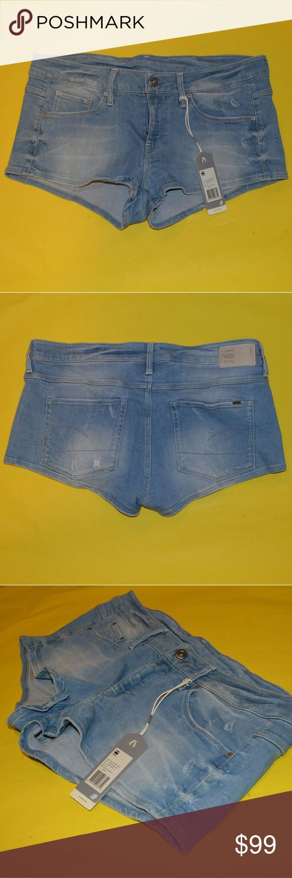 NWT G Star Raw Denim Shorts Size 28 Brand new and perfect. Super rare shorts from G Star brand. Jean shorts.  Size 28. True to size. G-Star. G-Star Shorts Jean Shorts