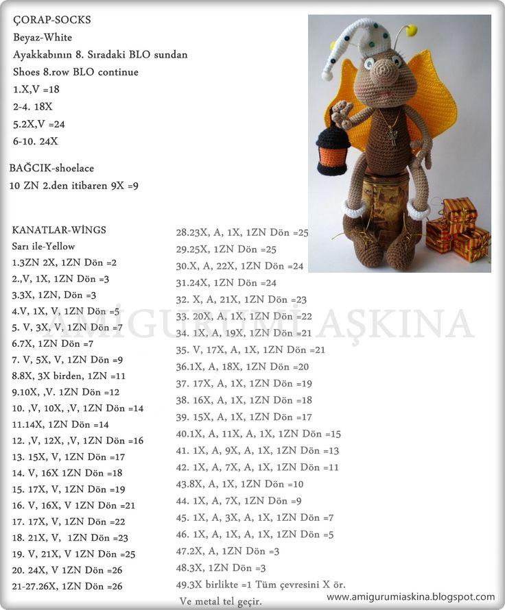 Amigurumi Aşkına: Amigurumi Sevimli Ateş Böceği Tarifi- Amigurumi Free Pattern
