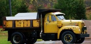 old mack dump trucks