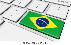 Brazil Flag Computer Keyboard