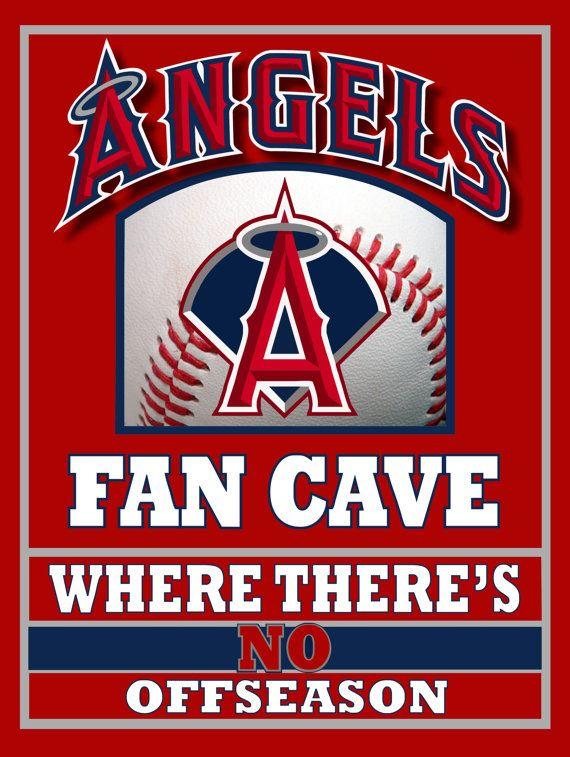 Angels Baseball Fan Cave Metal Sign by KindleKreative on Etsy, $20.00