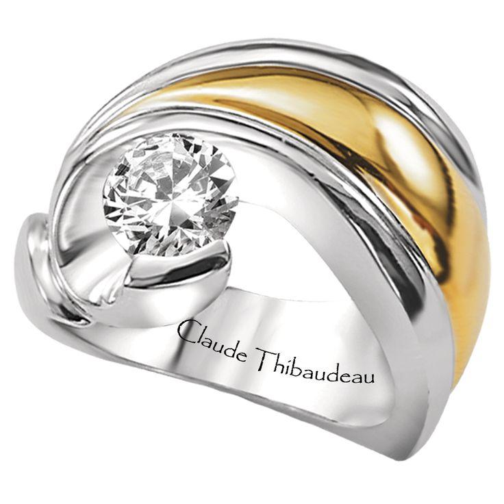 PLT-1226 Platinum & 18Kt Yellow Gold by Claude Thibaudeau