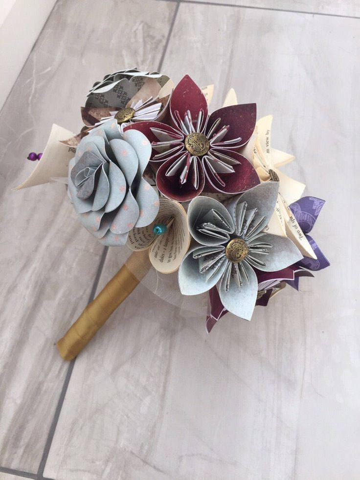 A personal favourite from my Etsy shop https://www.etsy.com/uk/listing/519612788/mixed-paper-flower-bridal-bouquet-paper