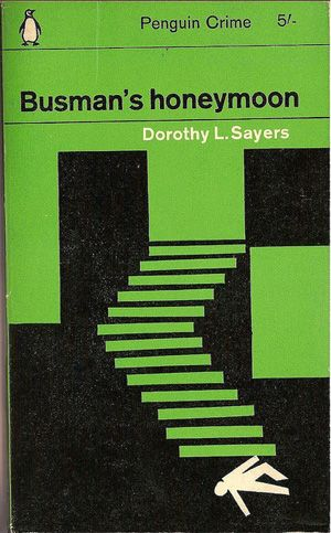 Penguin Book - Busman's Honeymoon. Designed by Romek Marber and illustrated by Romek Marber. #BookCover