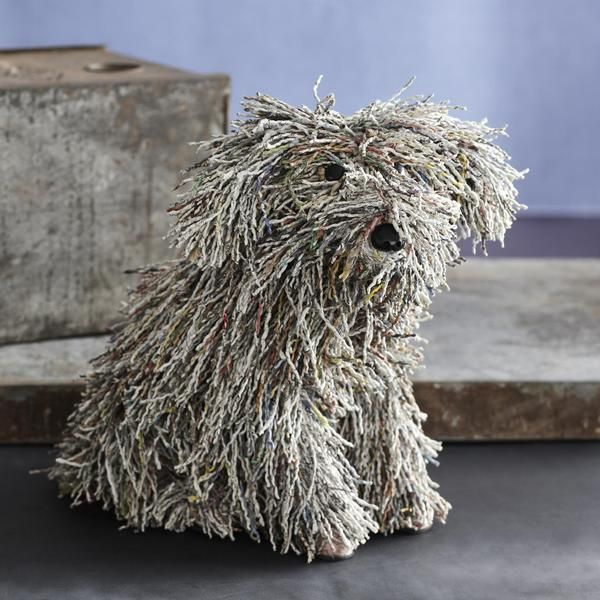 how to make a dog from paper mache