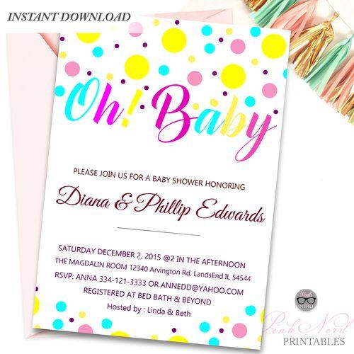 25 best ideas about Baby Shower Invitation Templates – Baby Shower Invite Templates