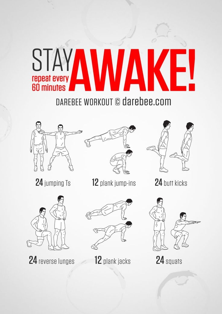Feel the rush of adrenaline through your body as you do the move and exercise thing. Ok, more than just a thing and you do need to be awake for this to begin with, but if you do it the guarantee is you will stay awake throughout. Instructions:...
