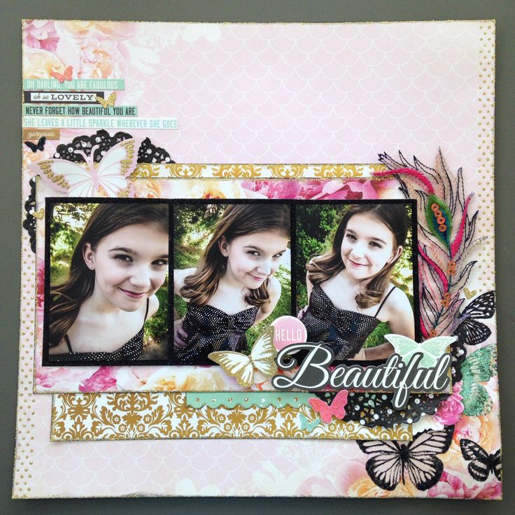 KaiserCraft - All That Glitters collection. A design team project for my LSS. #scrapbook