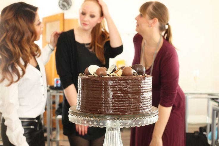 Chocolate cake with nutella ganache and dulce de leche
