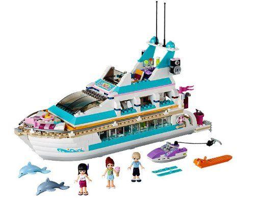 LEGO® Friends Dolphin Cruiser Yacht with Minifigures Mia, Maya, & Andrew   41015 - http://www.rekomande.com/lego-friends-dolphin-cruiser-yacht-with-minifigures-mia-maya-andrew-41015/