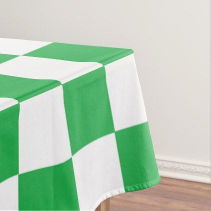 Checkered Green and White Tablecloth  $84.40  by SimplyFunDesigns  - cyo customize personalize diy idea