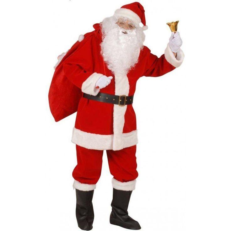 XL Premium Weihnachtsmann Anzug 5-teilig – XL für 67,99€. Komplettkostüm, Lo…