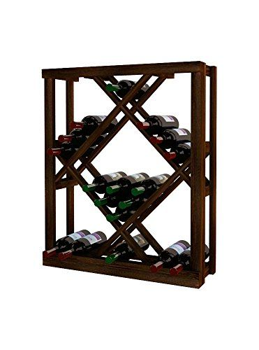 Wine Cellar Innovations RPDWODIAMA3 Traditional Series Open Diamond Bin Wine Rack Rustic Pine Dark Walnut Stain -- Details can be found by clicking on the image.