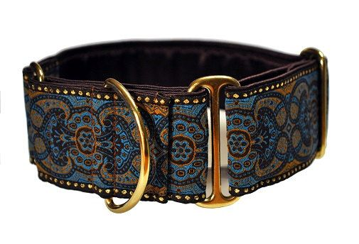 I LOVE TheHoundHaberdashery on Etsy. I would probably buy at least 10 different collars from her right now if I could!