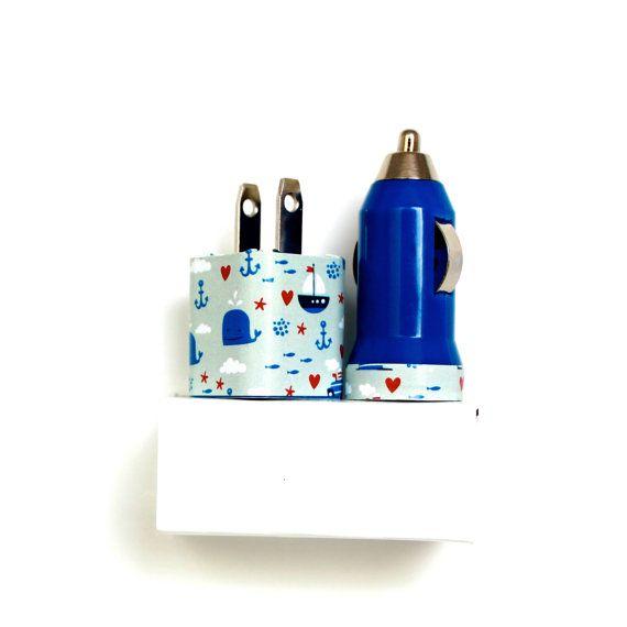 Walvissen en zeilen iPhone lader | Telefoon accessoire | draagbare USB lader mobiele auto-oplader | voor iPhone 6 6s | iPhone 5s 5s 5