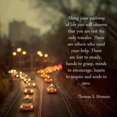 Not the Only Traveler | Creative LDS Quotes