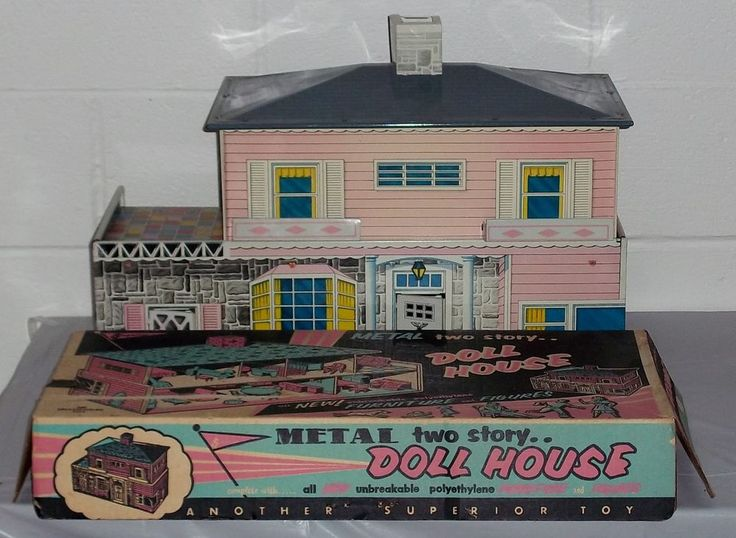 Vintage Tin Litho Superior 767 Dollhouse w Furniture People Box Paperwork RARE | eBay