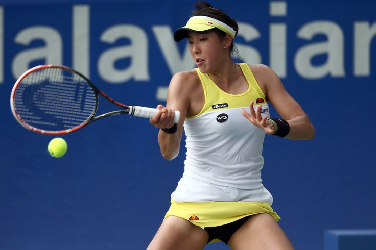 Misa Eguchi Photos Photos - Misa Eguchi of Japan in action during day two of the BMW Malaysian Open at the Royal Selangor Golf Club Tennis Court on March 3, 2015 in Kuala Lumpur, Malaysia. - BMW Malaysian Open: Day 2