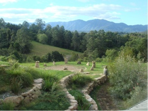 Standing stones at the beautiful North Farm, Bellingen - a great place to stay.