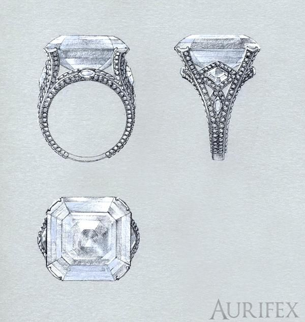 Aurifex Jewellery Design Agency, Jewellery CAD CAM, Jewelry CAD CAM, Jewellery manufacturing services
