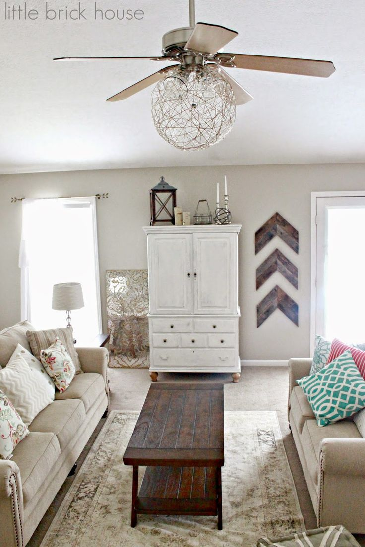 Little Brick House Ceiling Fan Makeover Living Room