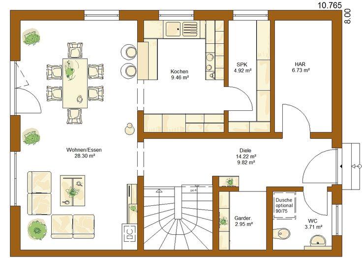 CLOU 136 Grundriss Erdgeschoss – Kathrin
