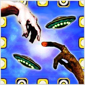 ET e Deus - Quadrinhos confeccionados em Azulejo no tamanho 15x15 cm.Tem um ganchinho no verso para fixar na parede. Inspirado em cenas de cinema e pintura. Para entrar em contato conosco, acesse: www.babadocerto.com.br