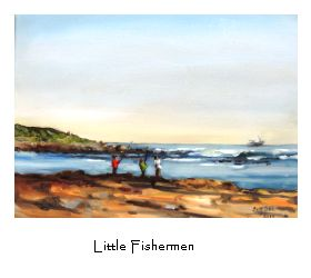 """""""Little Fishermen"""".  At the Kom.  I LOVE it! Little fishing village in the Western Cape, South Africa."""