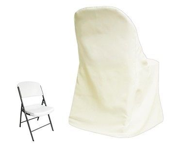 100 x Ivory LIFETIME FOLDING CHAIR COVERS Wholesale Wedding Party Decorations
