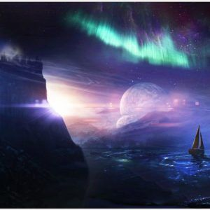 Space Fantasy Northern Lights Boat Sea Creative Wallpaper | space fantasy northern lights boat sea creative wallpaper 1080p, space fantasy northern lights boat sea creative wallpaper desktop, space fantasy northern lights boat sea creative wallpaper hd, space fantasy northern lights boat sea creative wallpaper iphone