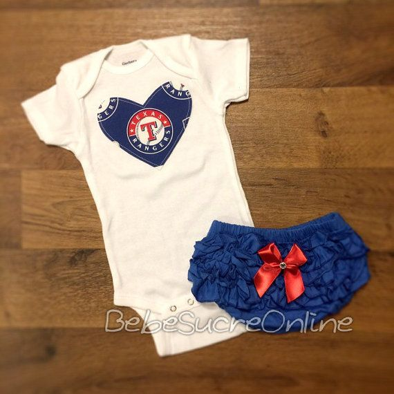 Texas Rangers Girls Outfit by BebeSucreOnline on Etsy
