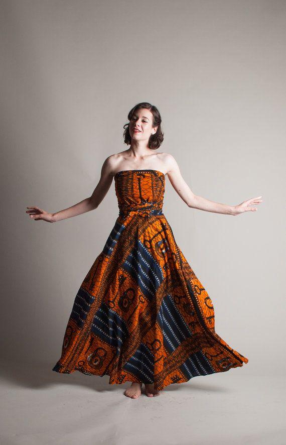 Vintage 70s Batik Dress 1970s Ethnic Dress by concettascloset, $188.00