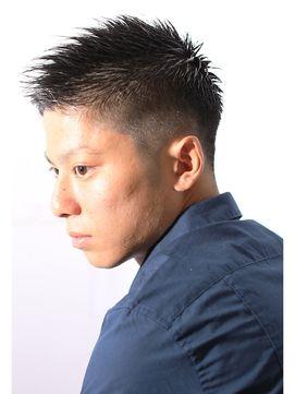 メンズヘアスタイルベリーショートのナチュラルグラデーションモヒカン(遠藤)