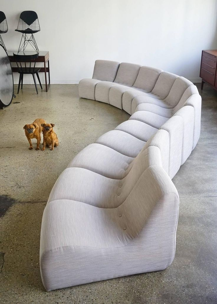 Serpentine Sectional by Milo Baughman 10