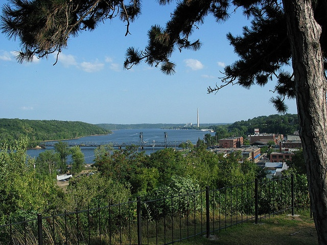 view from pioneer park stillwater mn by