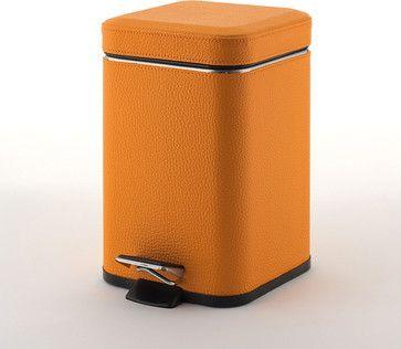 Argenta Wastebasket, Orange contemporary waste baskets